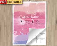 Calendario 2019 en PDF para personalizar e imprimir
