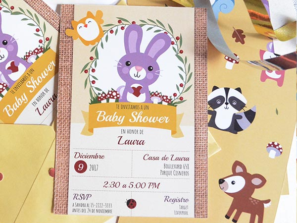 Set De Invitaciones De Babyshower