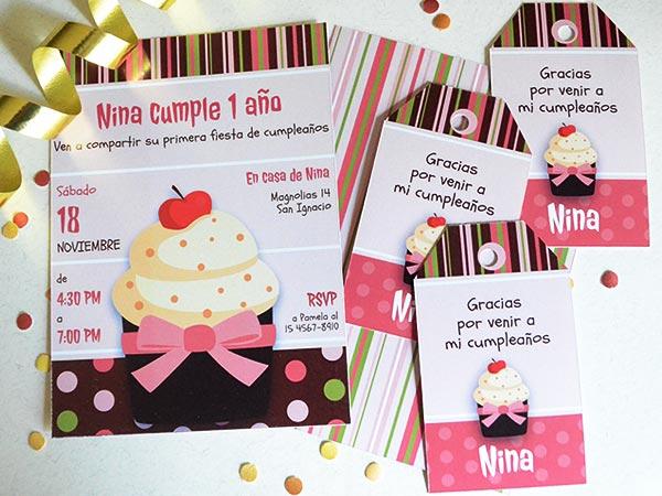 Set De Invitaciones De Cumpleaños Para Niñas Para Descargar