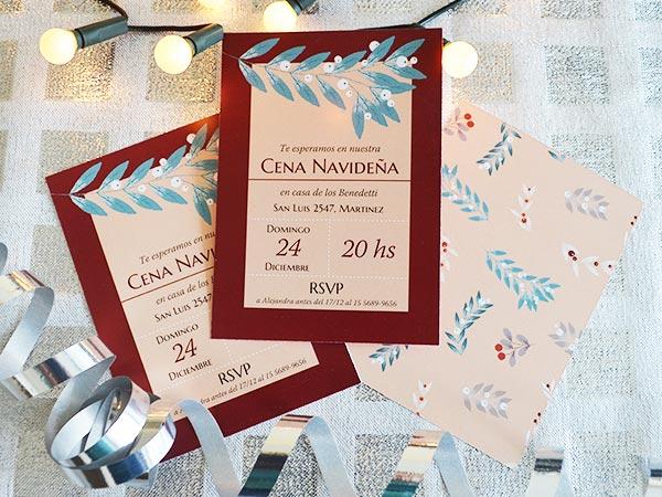 Set De Invitaciones De Navidad Para Descargar Editar E Imprimir