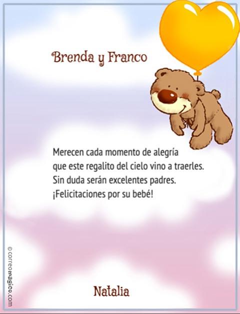 Textos para tarjetas bebé - Imagui