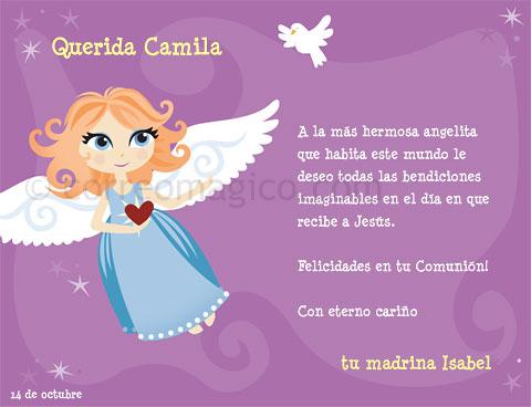 comunion angelita - Tarjetas para imprimir GRATIS en tu casa en ...