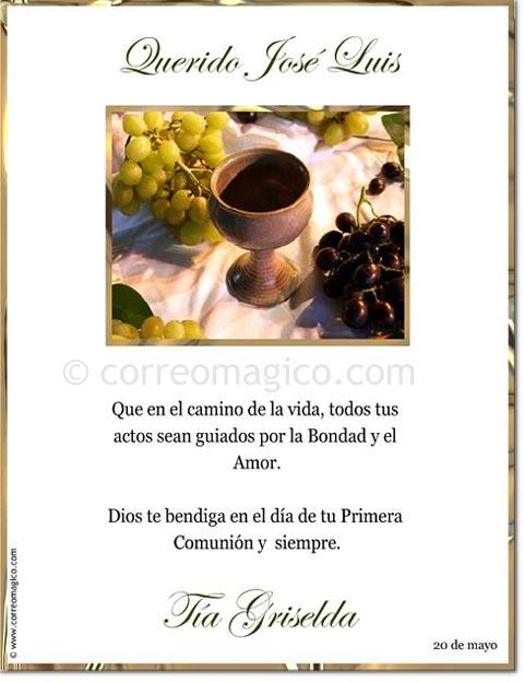 Tarjeta Para Imprimir De Felicitaciones Comunión Correomagico
