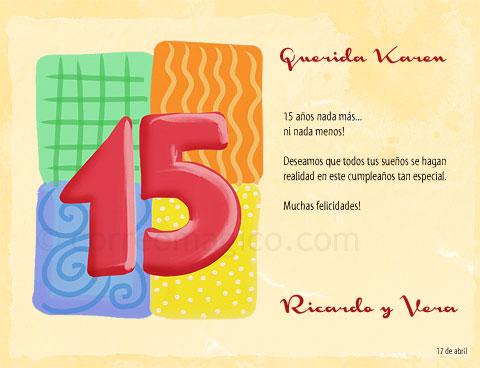 Tu casa en www correomagico com cumple15 15 hay miles de motivos