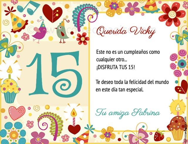 Tarjetas De Cumpleaños Para 15 Anos Imprimir Imagui