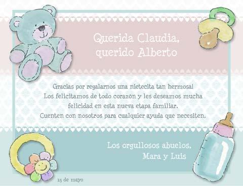 Tarjetas de felicitacion de nacimiento de bebé para imprimir - Imagui