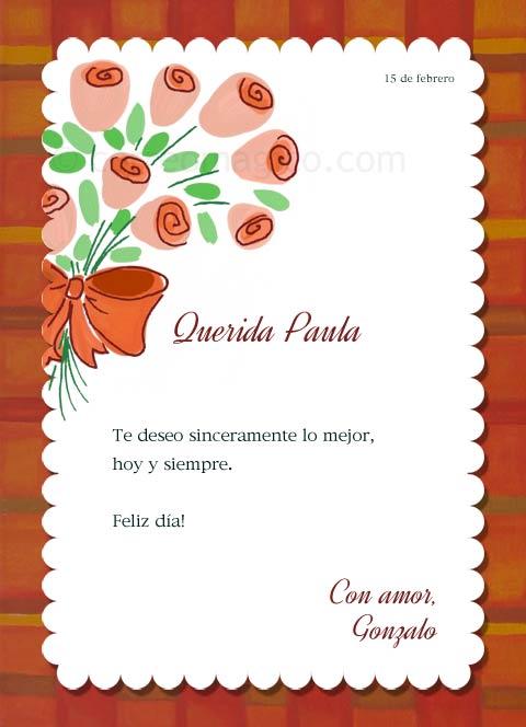 Tarjeta Para Imprimir De San Valentin Ramo Correomagico