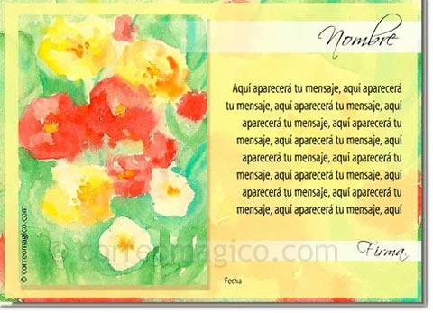 Tarjeta Para Imprimir De Felicitaciones Acuarelas Correomagico