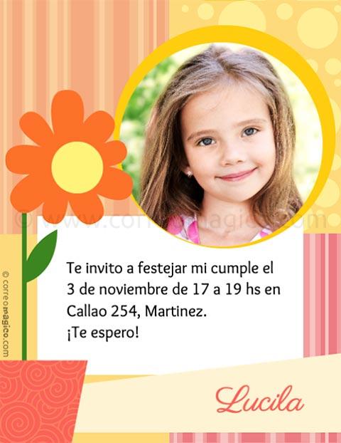Tarjeta Para Imprimir De Cumpleaños Cumpleaños De Nena