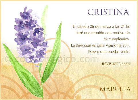 Tarjeta Para Imprimir De Cumpleaños Flor Correomagico