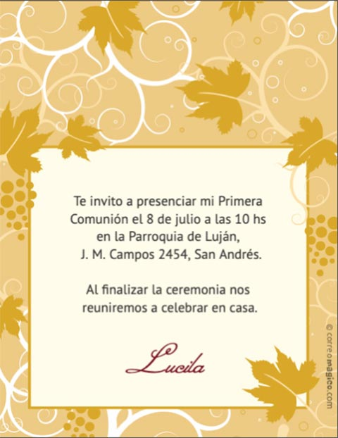 invitaciones de primera comunion virtuales gratis