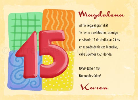 Tarjeta Para Imprimir De Cumpleaños De 15 15 Años Correomagico