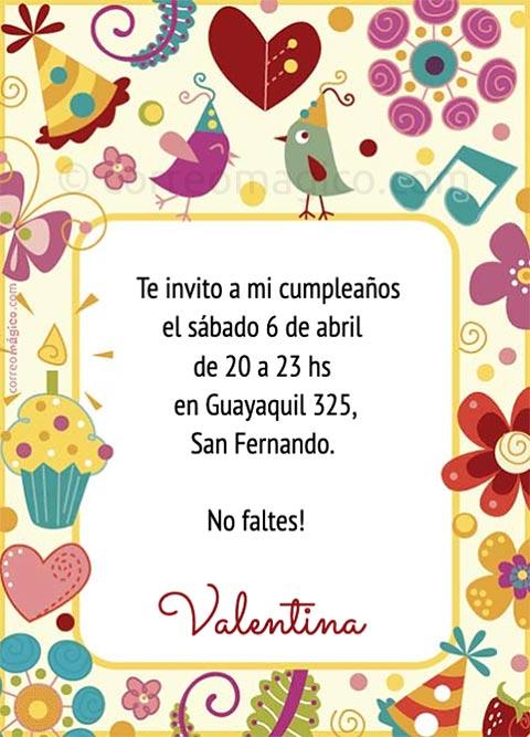 Fondo Tarjeta Invitación Cumpleaños Imagui