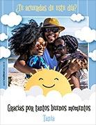 Tarjeta de Día del amigo personalizable. Días de sol,