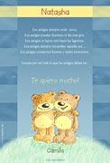 Tarjeta de amistad para personalizar. Lo que los amigos deben ser, Miniposter