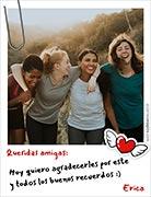 Tarjeta de Día del amigo personalizable. Buenos recuerdos,