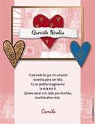 Tarjetas de amor para imprimir. Corazones