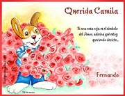 Tarjetas de navidad para imprimir. Rosas rojas