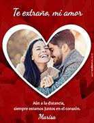 Tarjetas de amor para imprimir. Juntos en el corazón