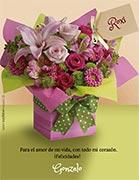 Tarjetas de cumpleaños para imprimir. Regalo de flores