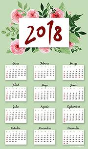Calendarios 2018 para imprimir. Calendario 2018
