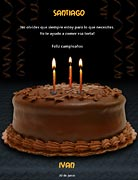 Tarjeta de Cumpleaños para imprimir. Te ayudo a comer eso!