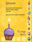 Tarjeta de Cumpleaños para imprimir. Cupcakes