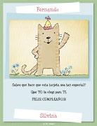 Tarjeta de Cumpleaños para imprimir. Una tarjeta especial...