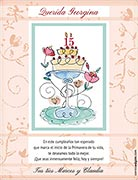 Tarjeta de Cumpleaños para imprimir. Ideal para Quinceañeras