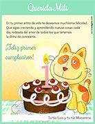 Tarjeta de Cumpleaños para imprimir. Torta personalizada con la edad