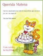 Tarjeta de Cumpleaños para imprimir. Felicidades!
