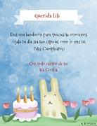 Tarjeta de Cumpleaños para imprimir. Especial como tú