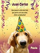 Tarjeta de Cumpleaños para imprimir. Alegría en tu día