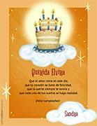 Tarjeta de Cumpleaños para imprimir. Que tus sueños se realicen