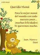 Tarjetas de Dia de las Madres para imprimir. Feliz día, mamá