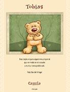 Tarjeta de Día del amigo personalizable. Estás en mi corazón,