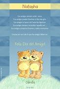 Tarjeta de Día del amigo personalizable. Lo que los amigos deben ser,