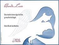Tarjetas de Dia de las Madres para imprimir. Angel