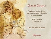 Tarjetas de Dia de las Madres para imprimir. El nombre de Dios