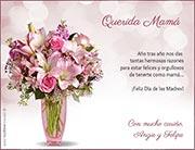 Tarjeta de Día de las Madres personalizable. Flores para ti,
