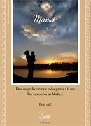 Tarjetas de Dia de las Madres para imprimir. Dios creó a las Madres