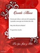 Tarjetas de Dia de las Madres para imprimir. Feliz día de la Madre
