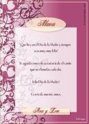 Tarjetas de Dia de las Madres para imprimir. Felicidades