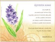Tarjetas de Dia de las Madres para imprimir. Una Madre da...