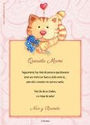 Tarjetas de Dia de las Madres para imprimir. Gatito