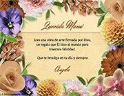 Tarjeta de Día de las Madres personalizable. Arte floral,