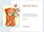Tarjetas de Dia de las Madres para imprimir. Osito