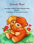 Tarjeta de Día de las Madres personalizable. Para la mejor mamá,