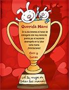 Tarjeta de Día de las Madres personalizable. Premio a la mejor mamá,