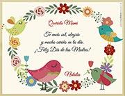 Tarjeta de Día de las Madres personalizable. ¡Feliz día de las Madres!,